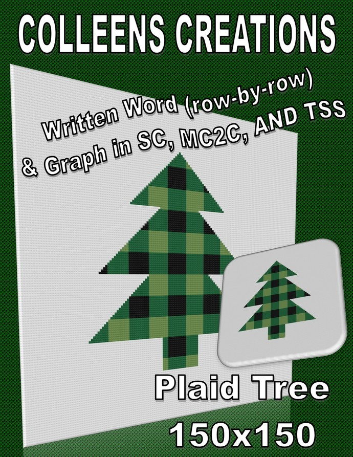 Plaid Tree Crochet Written & Graph Design