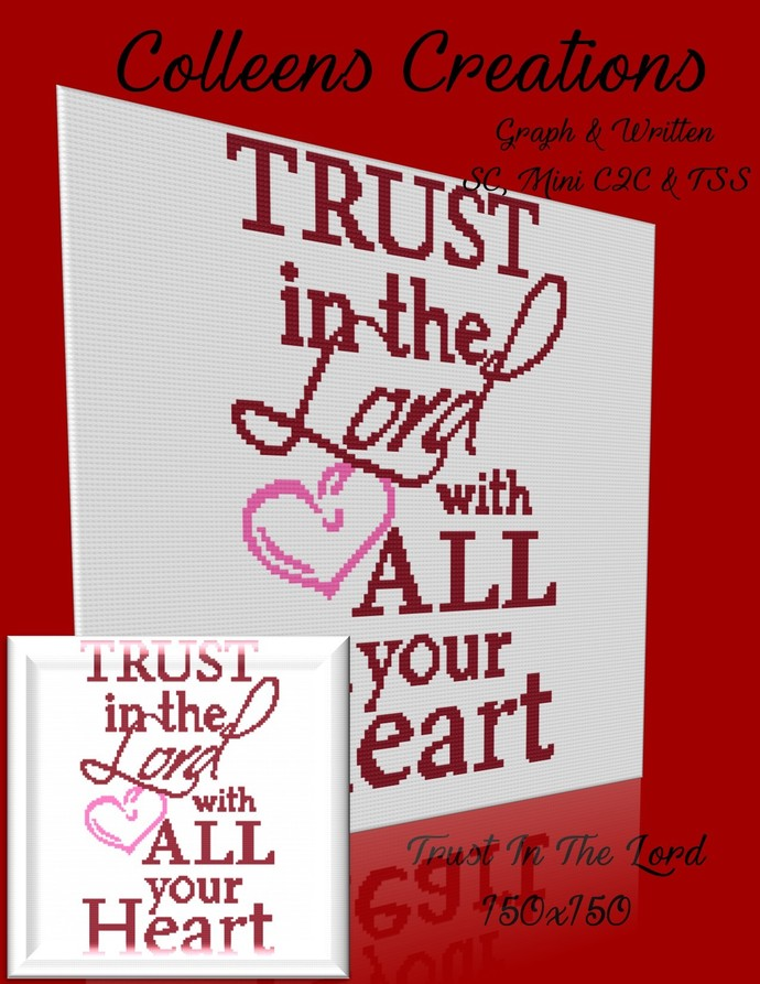 Trust In The Lord Crochet Written & Graph Design