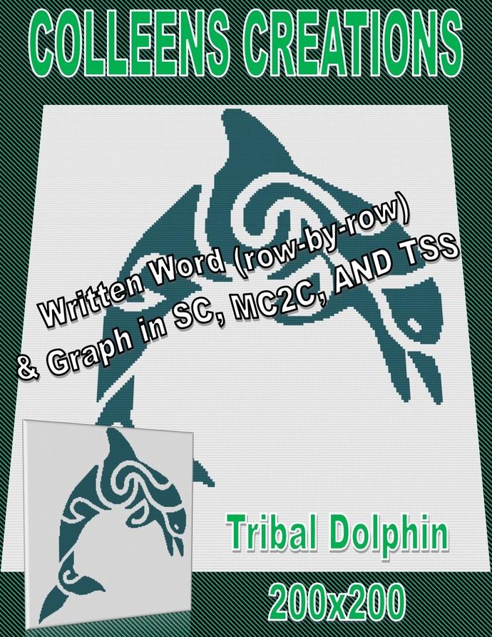 Tribal Dolphin #2 Crochet Written & Graph Design