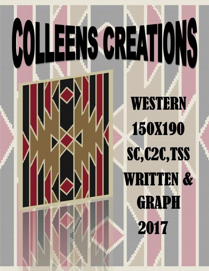 Western Crochet Written & Graph Design
