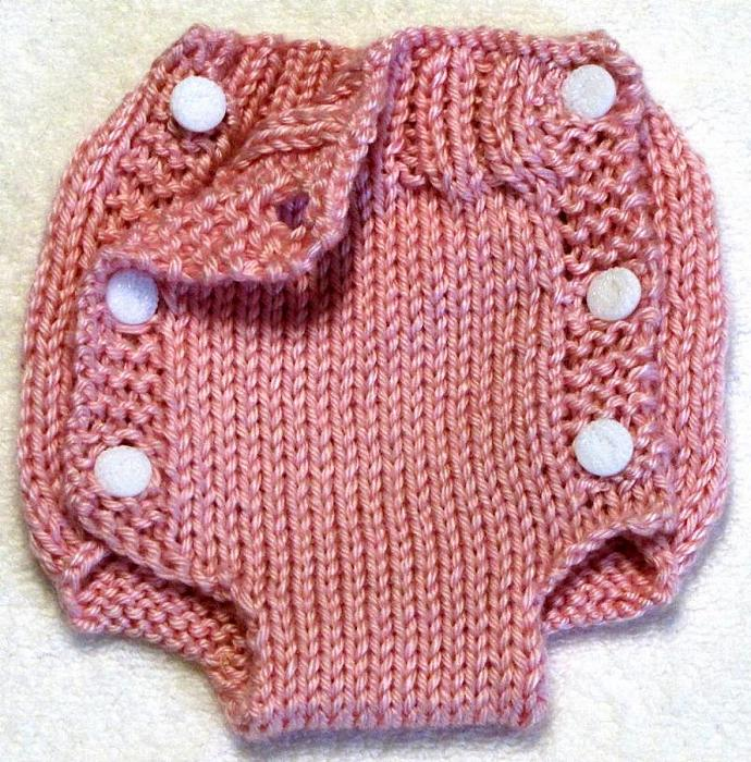 Diaper Cover Knitting Pattern - Newborn - PDF | ezcareknits