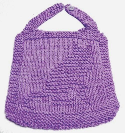 Knitting Pattern -  BIB - KITTY - PDF