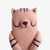 Popsicle Cat - Cotton Candy, needle felted cat popsicle, collectible fiber Art