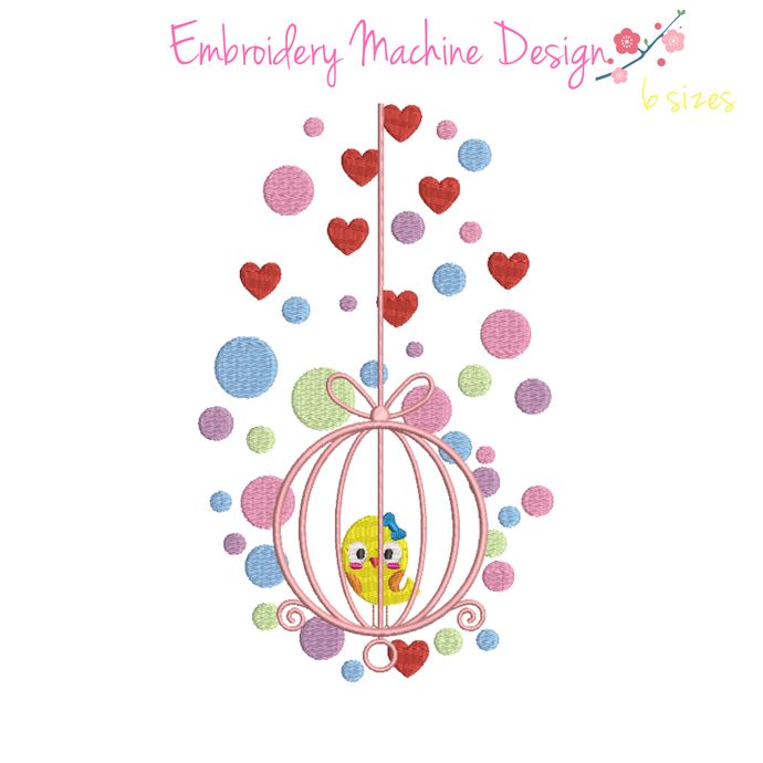 Bird Machine Embroidery Design pes file birdcase