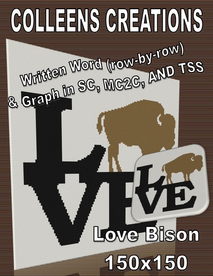 Love Bison Crochet Written & Graph Design