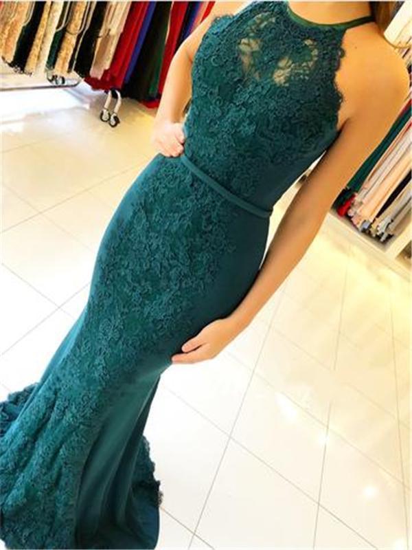 Green Lace Prom Dresses, Mermaid Prom Dresses, Sexy Prom Dresses, Prom Dresses