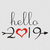 Hello 2019 svg,New year svg,New year's eve,Silhouette cameo,Cricut files,Svg cut
