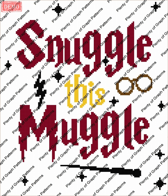 Baby snuggle this muggle graph and written graphghan pattern