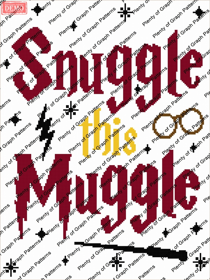 Snuggle this muggle graph and written graphghan pattern