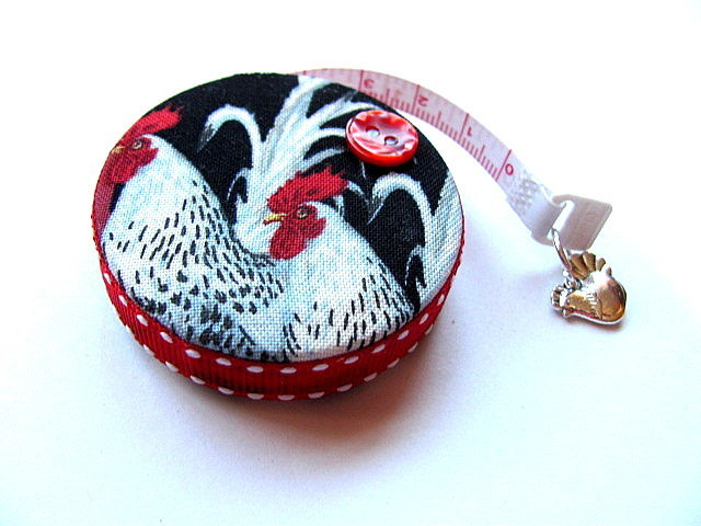 Measuring Tape with Chicken and Eggs Retractable Small Tape Measure