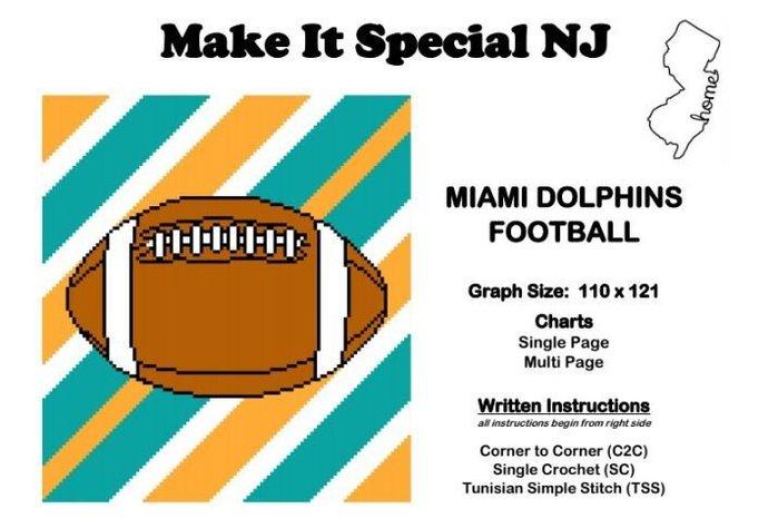 Miami Dolphins Football Stripes