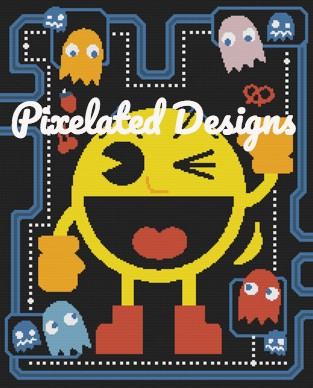 PacMan Pattern - SC - 210x260 - Graph w/Written - Full Version