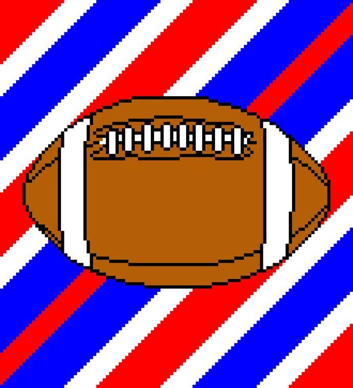 NY/NJ Giants Football Stripes