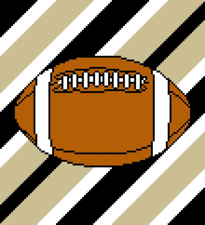 New Orleans Saints Football Stripes
