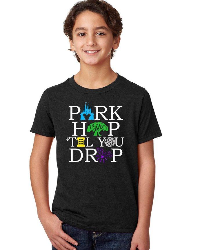 Park Hop til You Drop shirt,Family vacation shirt,Disney Vacation Shirt,Park Hop