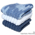 Blue Cotton Washcloths | Denim Blue Dishcloths | White Cotton Dishcloths |