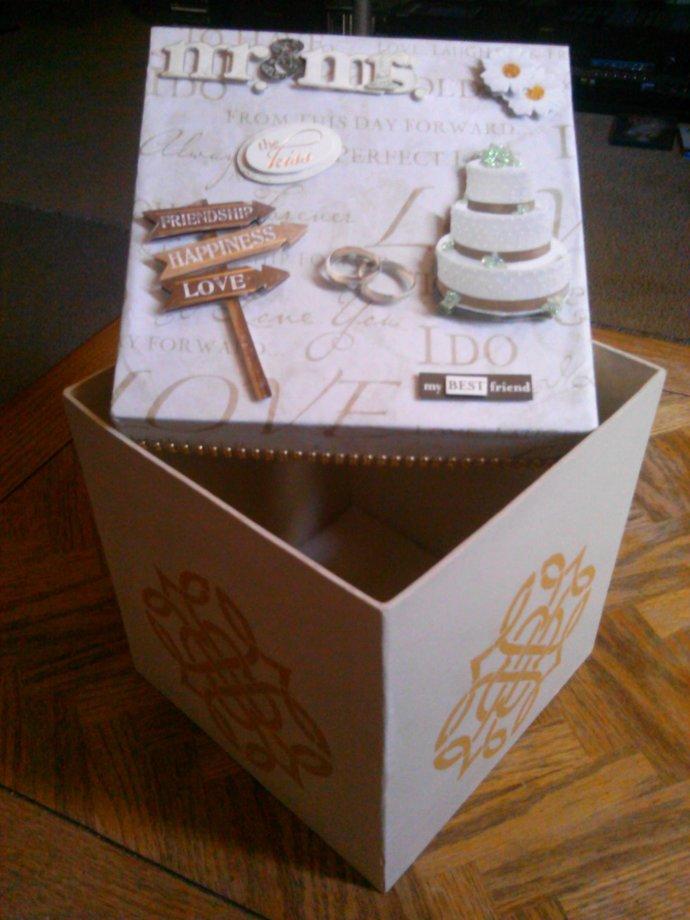 Large Antique-White Wedding Box