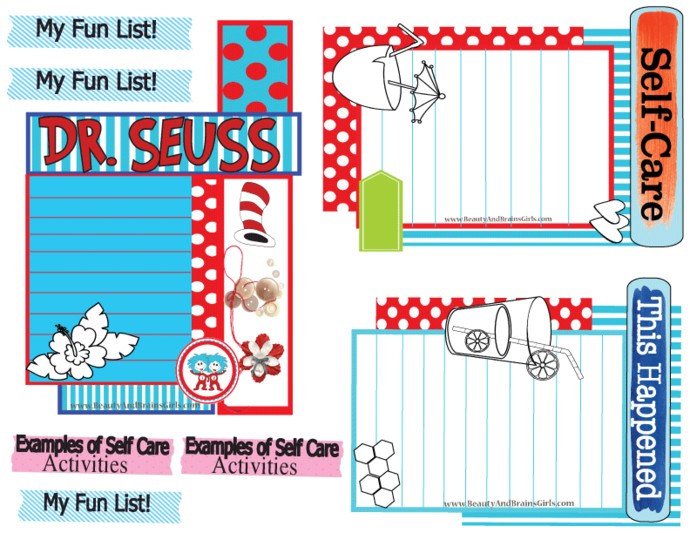 FOUR  Journaling Cards-Journaling Card Collage- Printable Art Journal Cards