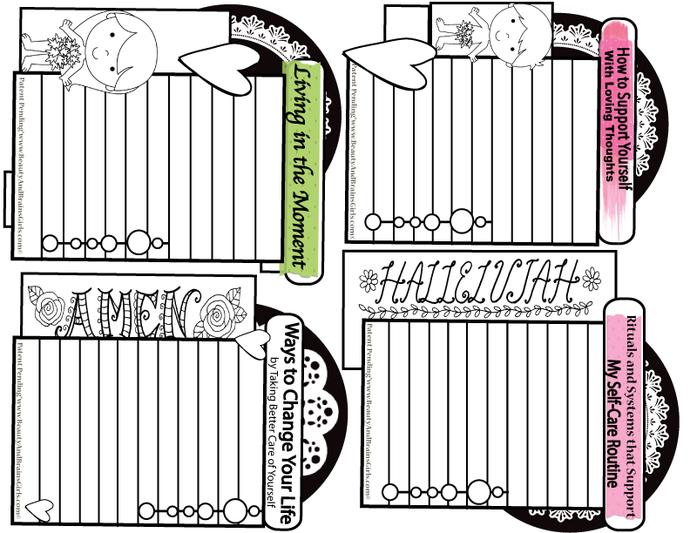 BiBle  FOUR  Journaling Cards-Journaling Card Collage- Printable Art Journal