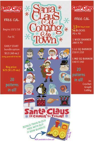 Santa Claus is Coming to Town Bundle - SC 20 Patterns - includes graph with