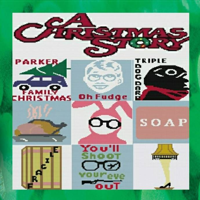 A Christmas Story Bundle - SC -includes graphs and written color charts