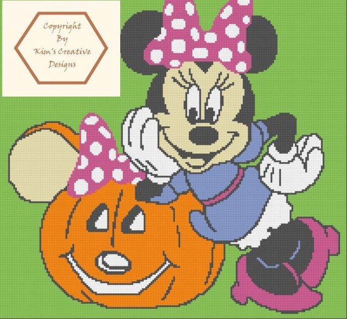 Minnie Mouse & Pumpkin - 200 x 200 - SC