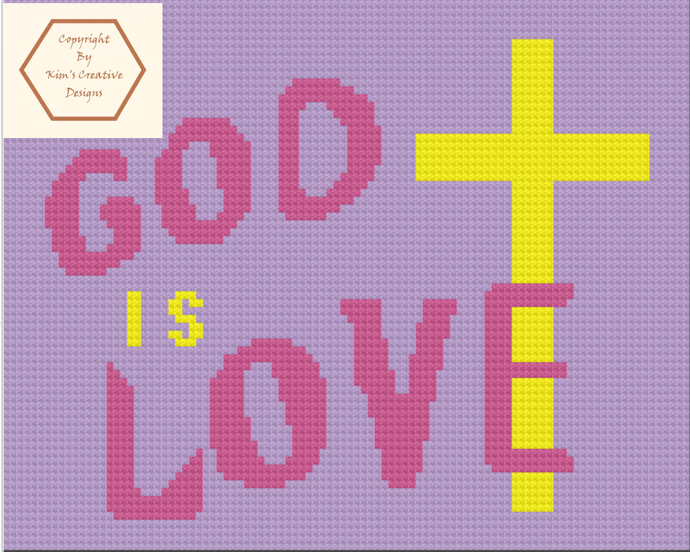 God is Love - 70 x 100 - SC and Tunisian