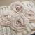 4pcs-Tattered Muslin Fabric Roses/Tea-dye Muslin Fabric Roses/Handmade Fabric