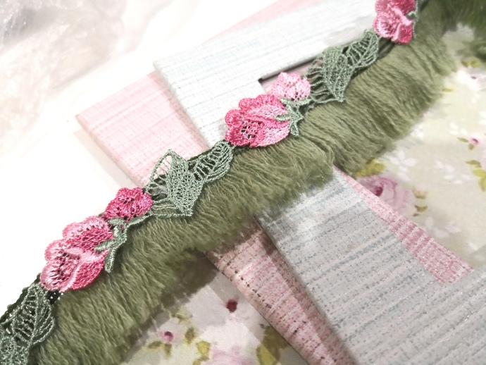 1 Yard Embroidered Flowering Frindge Tassel Lace Trm/NBDL28-Tassel Lace