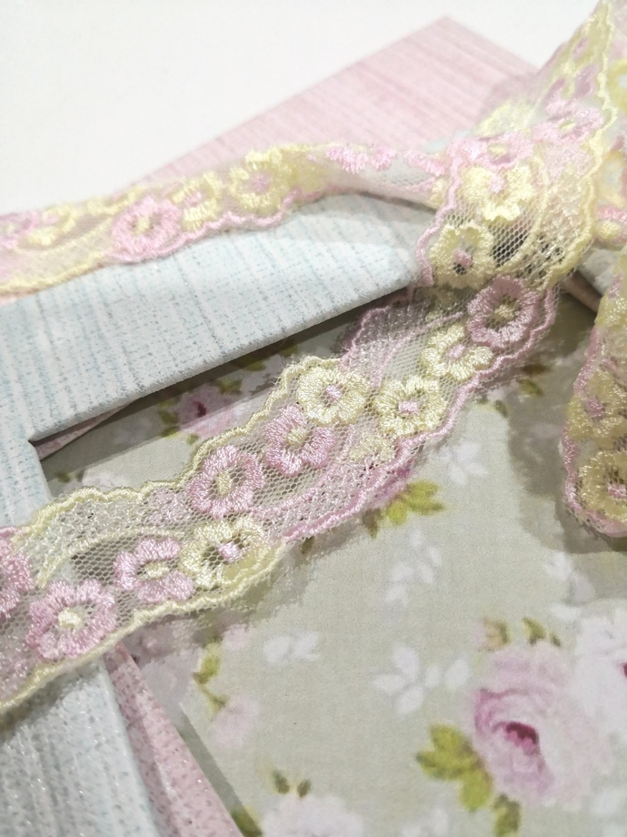 1 Yard-Embroidered Lace/ Flowering Lace/ NBDL30-Shabby chic Flowering