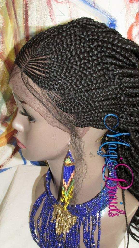 Fully Braided Lace Front Wig Micro Braids Corn By Magicbraids On