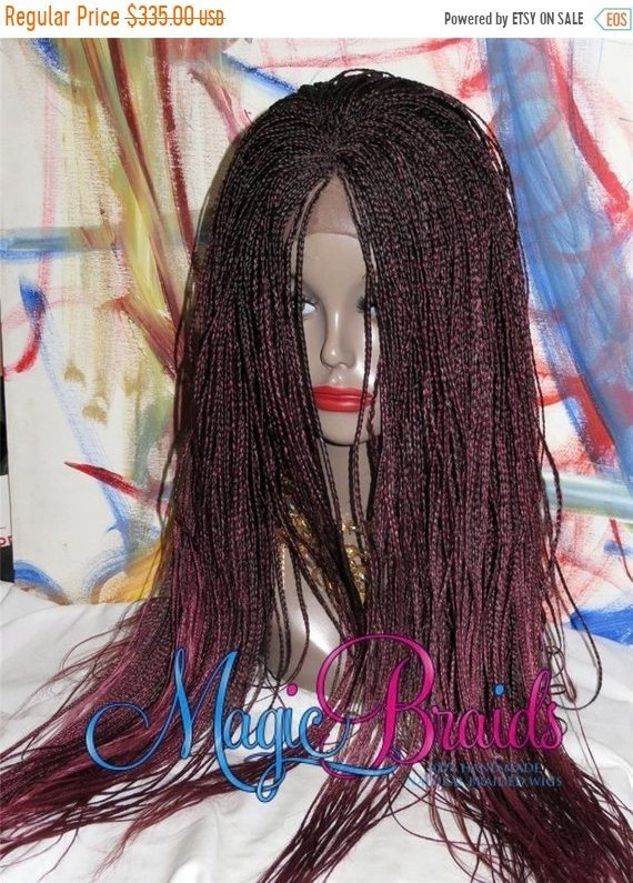Braided wig, Lace  front wigs, red Wig, African American Wig, Pony Tail Wig, red