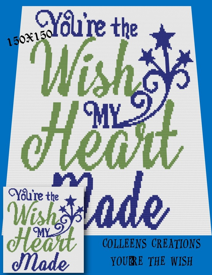 You're The Wish Crochet Written and Graph Design