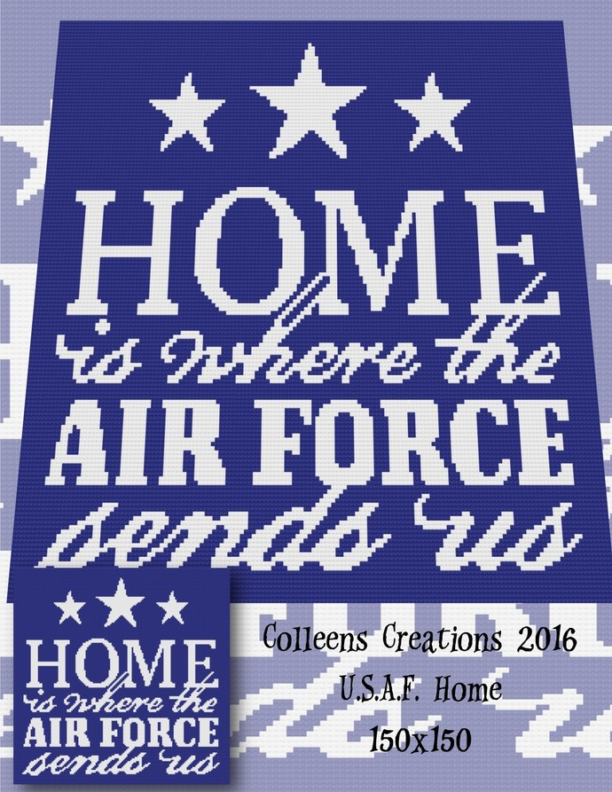 USAF Home -United States Air Force Home Crochet Written & Graph Design