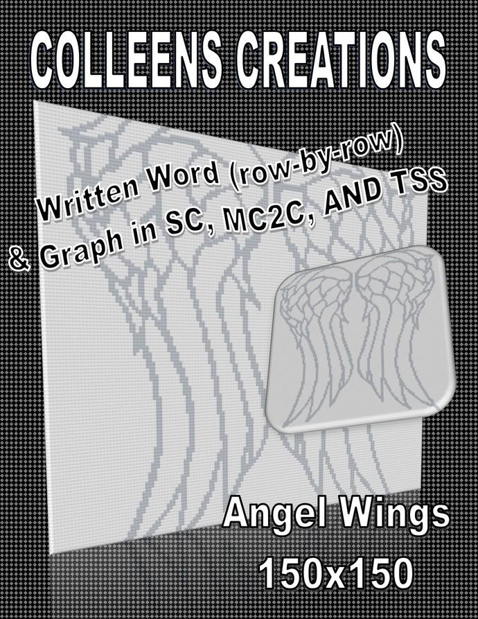 Angel Wings Crochet Written and Graph Design