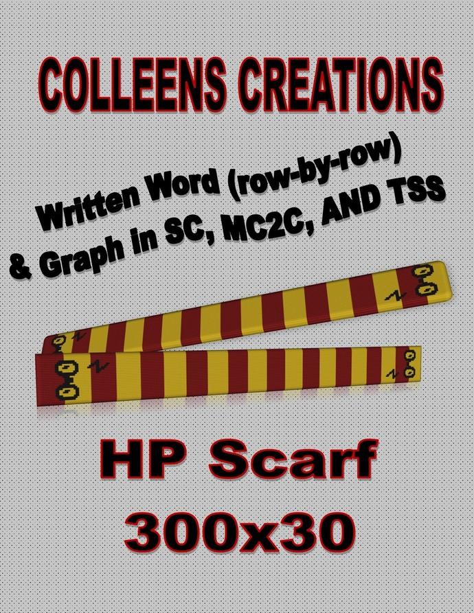 HP Scarf Crochet Written and Graph Design