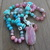 THIS NECKLACE IS RESERVED FOR  SMARK Long Rhodochrosite Beaded Necklace with
