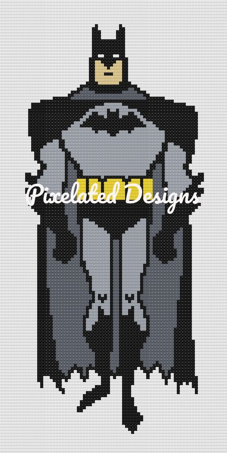 Batman Pattern - Mini C2C - 76x150 - Twin - Graph w/Written - Full Version