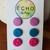 Clay Stud Triple Pack - purple/blue/pink