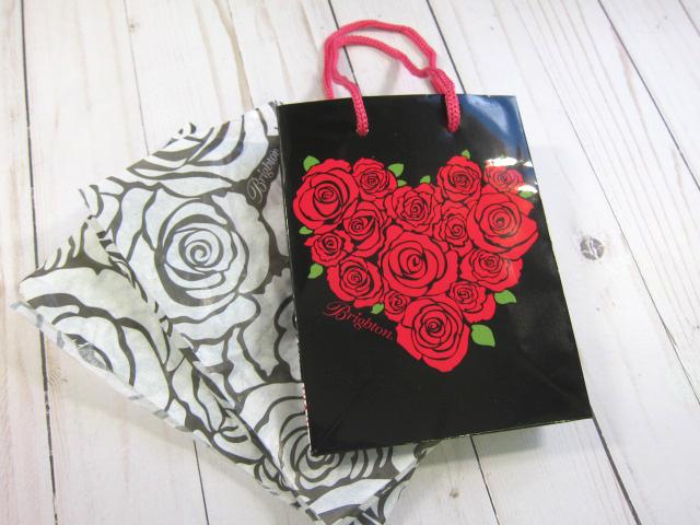 Roses Heart Paper Gift Bag Love, Valentine's Day - Red, Black