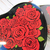 Roses Heart Metal Tin Gift Box  Card with Envelope Love, Valentine's Day - Red,