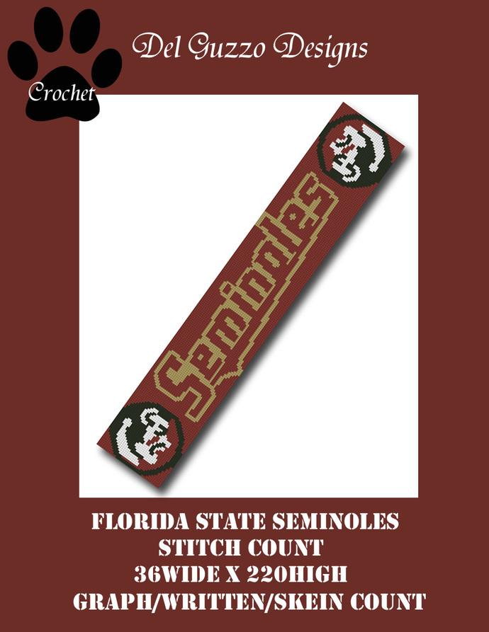 Florida State Seminoles 36x220 Scarf