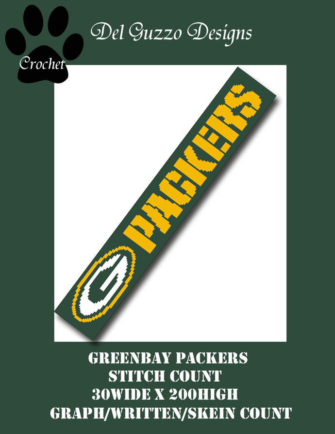 GreenBay Packers Scarf 30x200