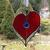 Stained Glass Heart, Valentine's Day Gift, Sweetheart Suncather, Red Heart,