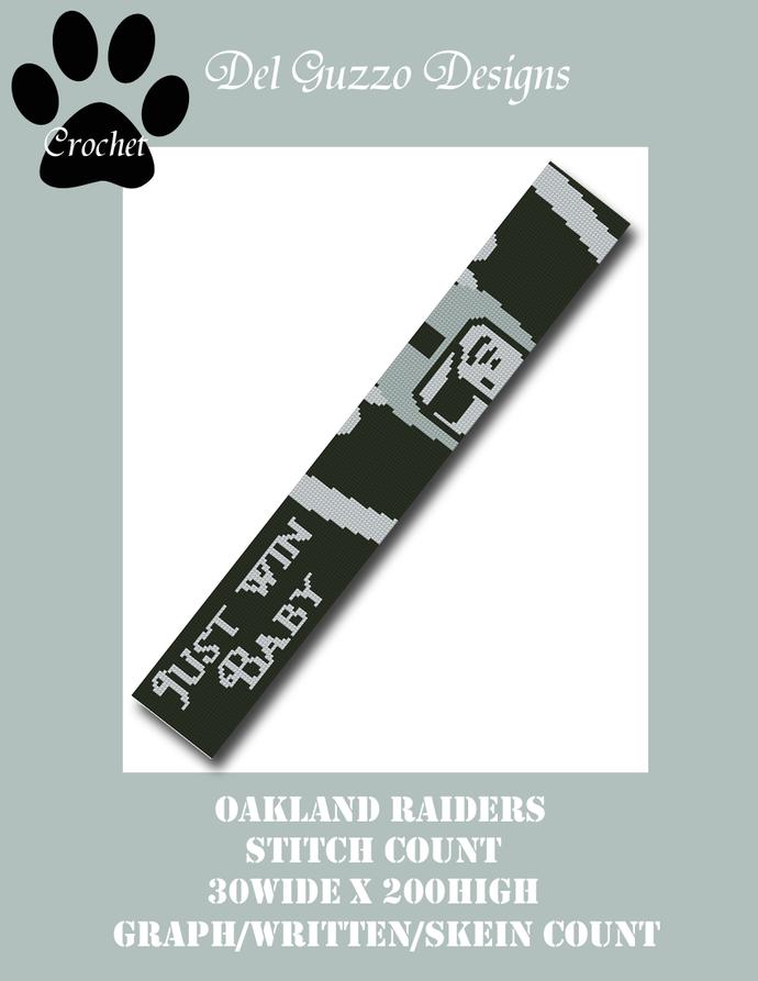 Oakland Raiders 30x200 Scarf