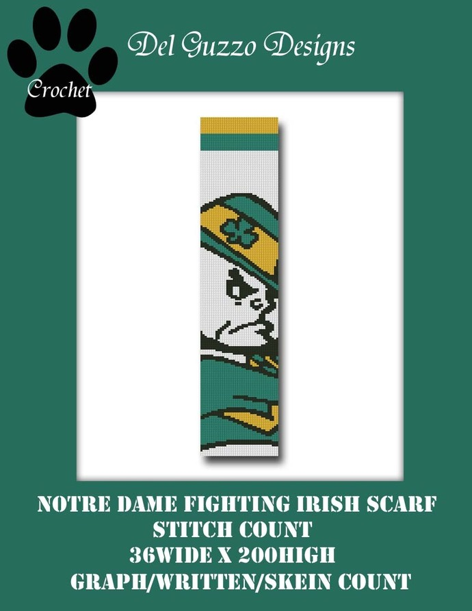 Notre Dame Scarf 36x200