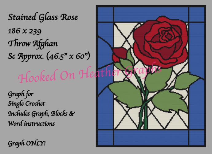 Stained Glass Rose 186x239 Graph
