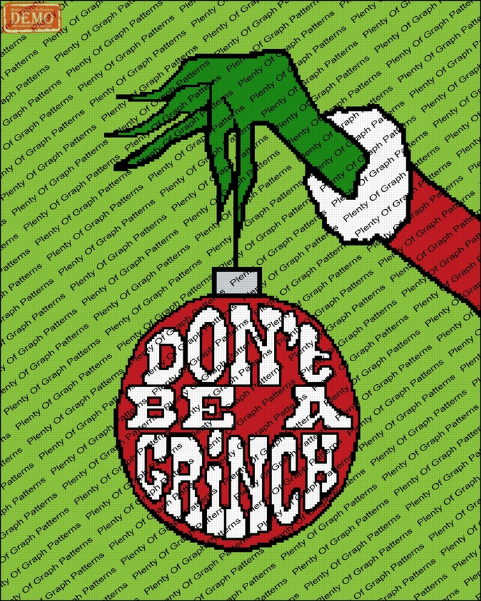 dont be a grinch graph and written graphghan pattern