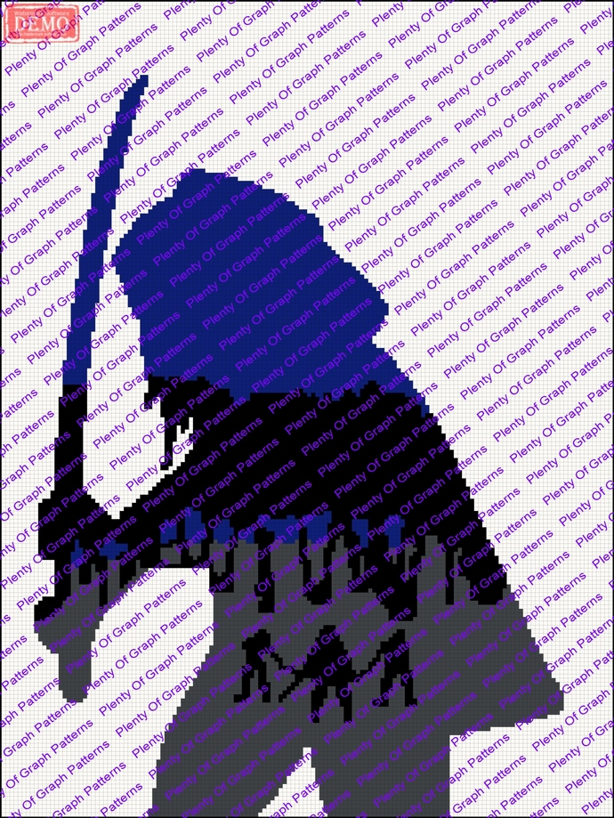 The walking dead- michonne graph and written graphghan pattern