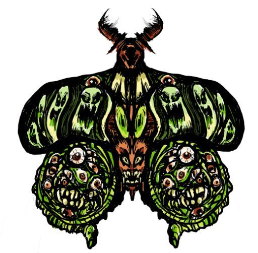 4x6 in Hell Moth Glossy Print
